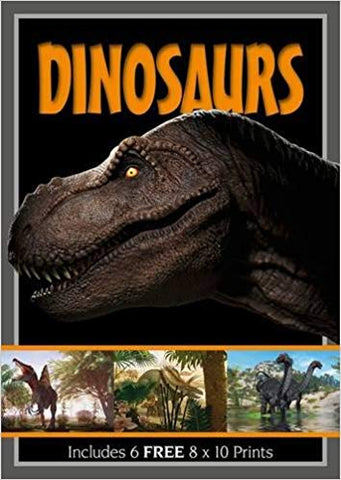 Dinosaurs  Paperback Book includes 6 Free Posters and Prints