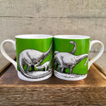 Apatosaurus Dinosaur Bone China Mug