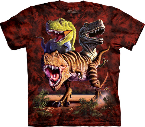 Tyrannosaurus Rex (T-Rex) Tea Party - Children's Dinosaur Cotton T-Shirt