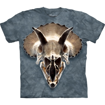 The MountainTriceratops Skull  Children's Dinosaur Cotton T-Shirt