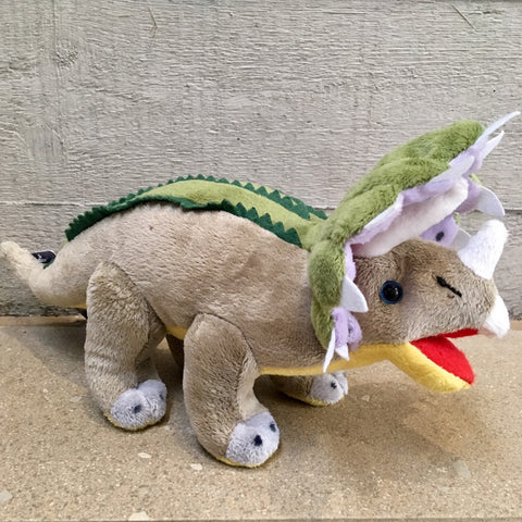 Triceratops Plush Dinosaur Soft Cuddly Toy