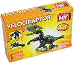 MY Building Bricks Dinosaur 3 In 1 Construction Set - T-Rex and Velociraptor
