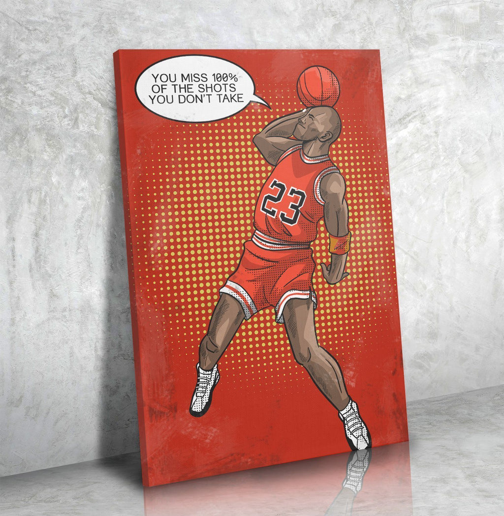 You Miss 100% Of The Shots (Jordan) - Canvas Print USA