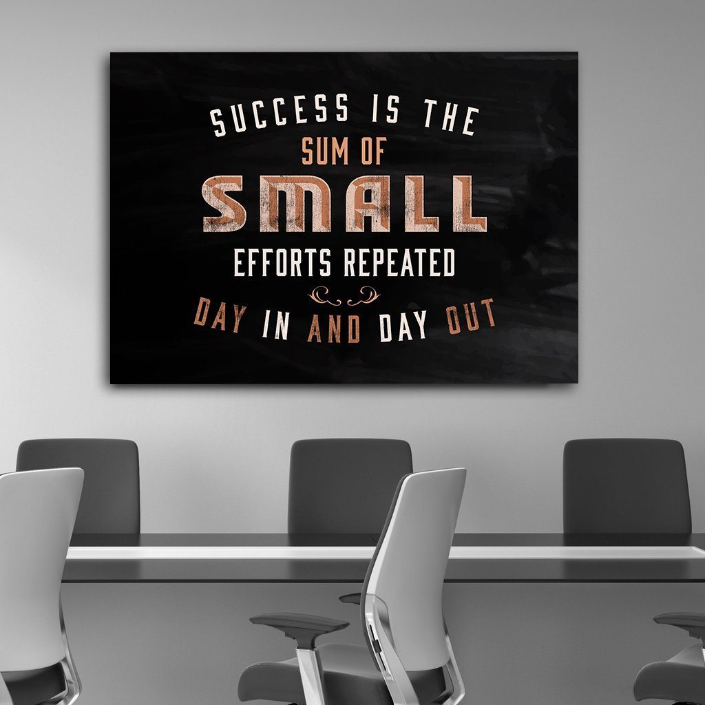 Success Is Small Efforts - Canvas Print USA