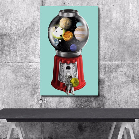 Space Gum Machine - Canvas Print USA