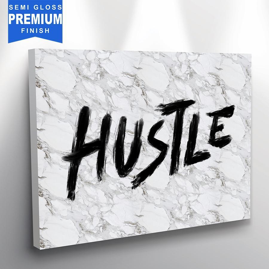 Hustle (Marble Edition) - Canvas Print USA