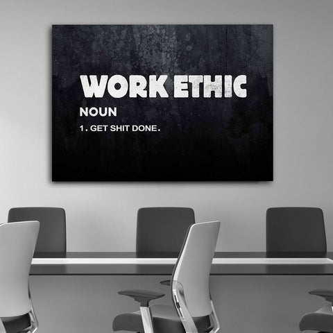 Work Ethic - Canvas Print USA
