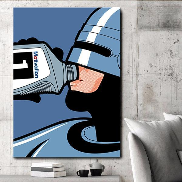 Motivation (Robocop) - Canvas Print USA