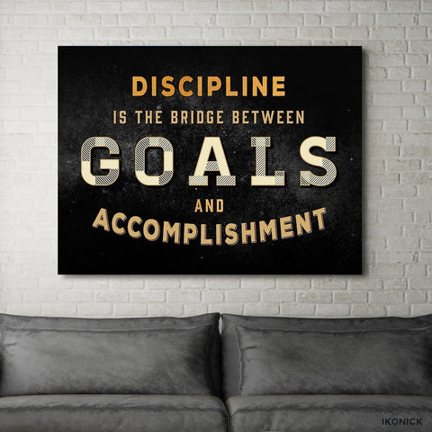 Discipline - Canvas Print USA