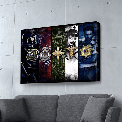 Warriors - Canvas Print USA