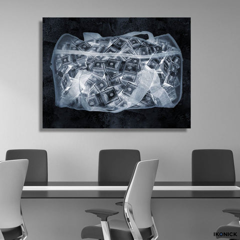 Money Bag (X-Ray Edition) - Canvas Print USA