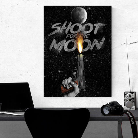 Shoot For The Moon - Canvas Print USA