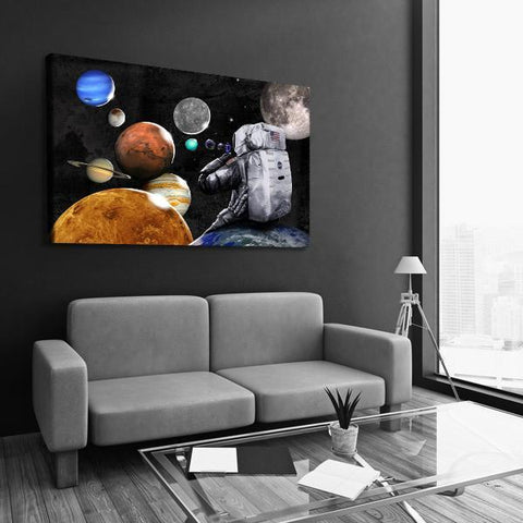Space Bubbles - Canvas Print USA