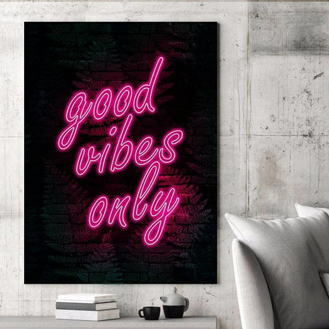 Good Vibes Only (Neon) - Canvas Print USA