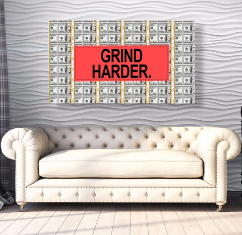 Grind Harder - Canvas Print USA