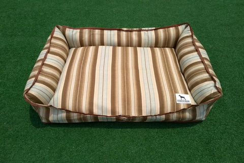 Premium Luxebed Medium  - Brown Stripes #281
