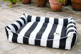 LARGE Luxebed - Black and White Stripes