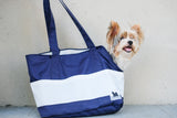 Travel Bag Navy with White Pockets Medium