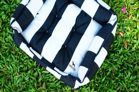 Basic Luxebed XS - Black and White Stripes #186