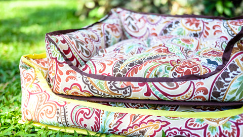 Premium Luxebed Small - Brown Paisley #137