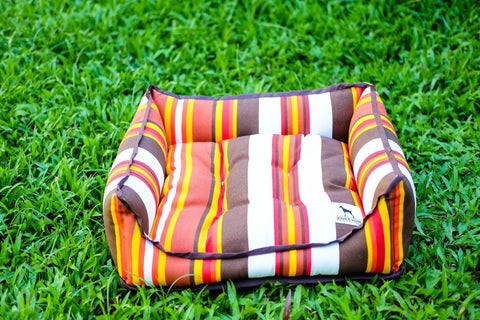 Basic Luxebed Medium - Brown Multicolor Stripes