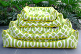 Premium Luxebed Medium - Lime Green Trellis