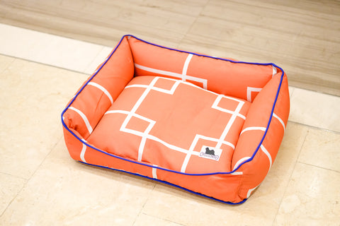 Premium Luxebed Small - Orange Geo # 135