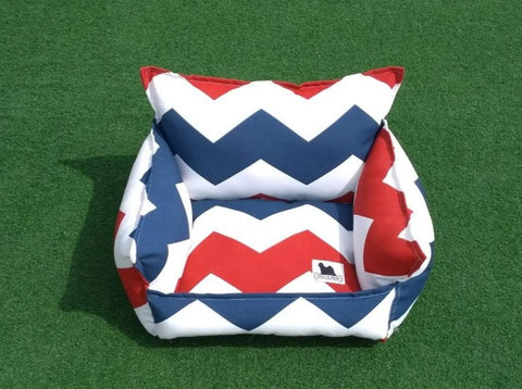 Cloudbed - Red Blue White Chevron  #208