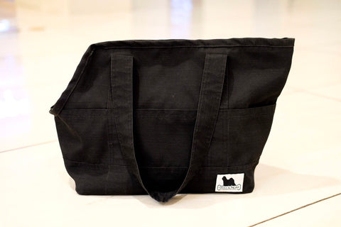 Travel Bag Black with Black Pockets Medium