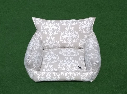 Cloudbed - Beige and White Damask #214