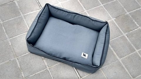 Premium Luxebed Small - Grey with Black Trim