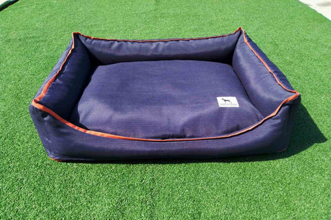 Premium Luxebed XS - Navy with Orange Trim