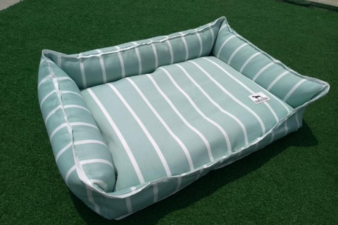 Premium Luxebed Small - Mint and White Stripes #38