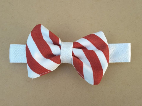 Bowtie - Red with White Stripes