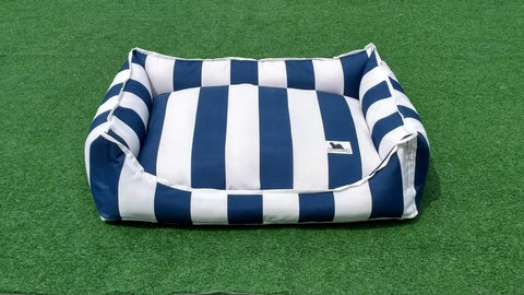 Premium Luxebed -  Navy and White Stripes #568