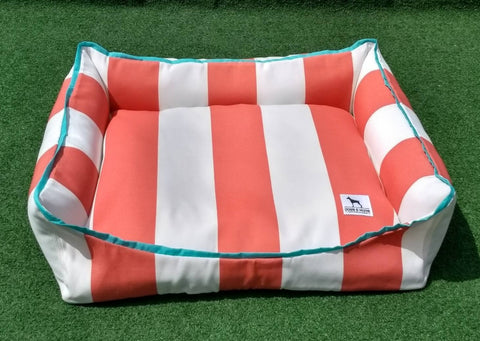 Premium Luxebed Small - Coral Stripes #457
