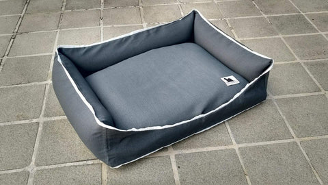 Premium Luxebed Medium - Grey with White Trim