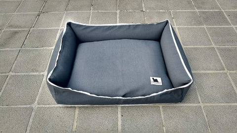 Premium Luxebed Small - Grey with White Trim