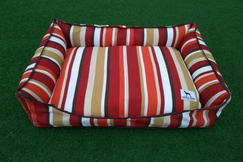 Premium Luxebed - Maroon Multicolor Stripes #458