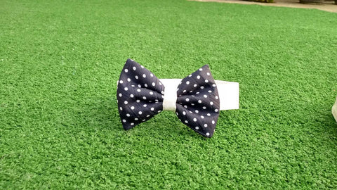 Bowtie - Navy with White Dots