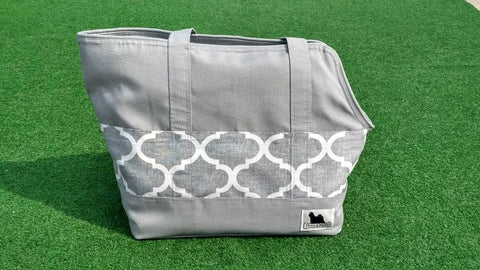Travel Bag Grey with Moroccan Pockets