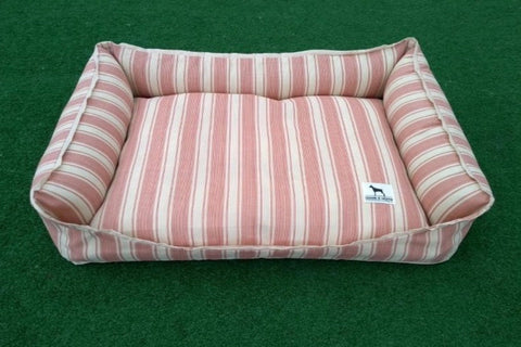 Premium Luxebed Small - Coral Stripes #282