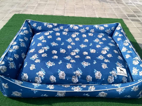 Sale Price 2880 Pesos (discount will reflect upon check out)  40% Clearance Display Item XL Blue Floral 40 x 48 Inches with removable zippered cover