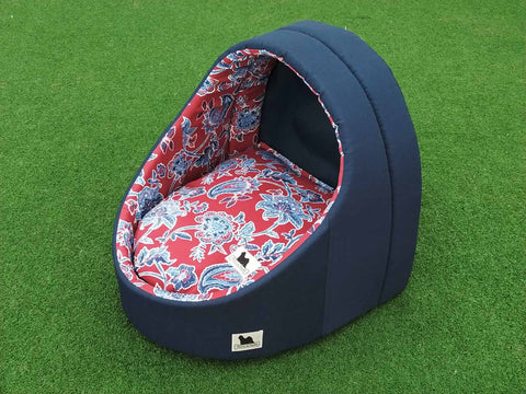 Happy Pod  Navy with Red Paisley #496