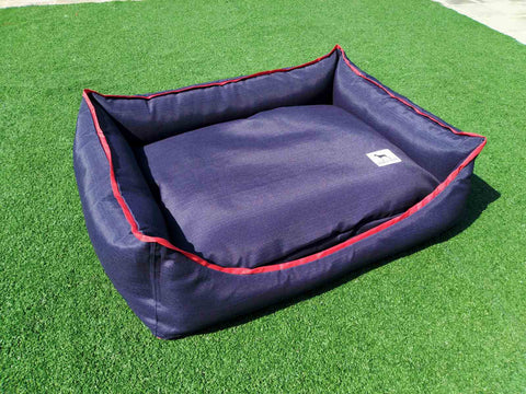 Premium  Luxebed XS - Blue with Red Trim