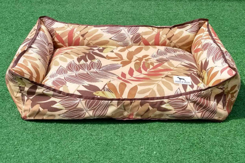 Premium Luxebed Medium - Brown Leaves #249