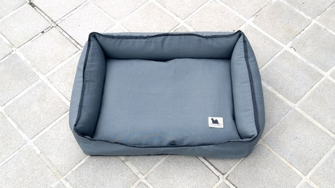 Premium Luxebed Medium - Grey with Black Trim