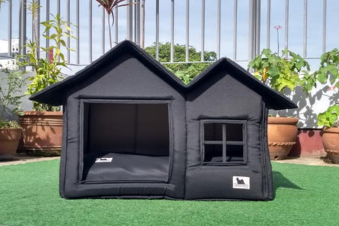 Posh Pillow House Deluxe Small - All Black