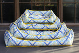 Basic Luxebed Large - Blue Yellow Printed # 139