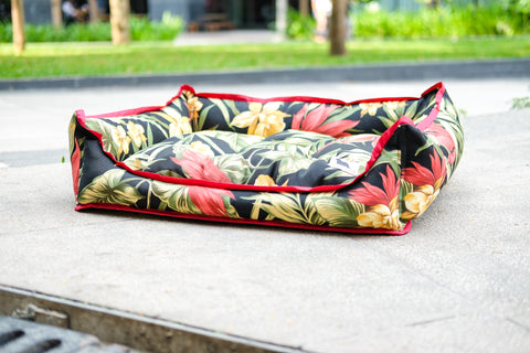 Basic Luxebed Medium - Black Tropical #9